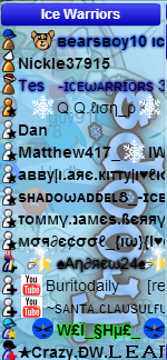 Pic of chat size towards the begginning, 45 cap was hit in middle of event while I was leading