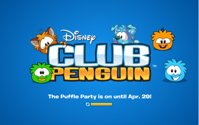 Loading screen for Puffle Party 2014