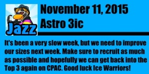 Ice Warriors Message 11 nov