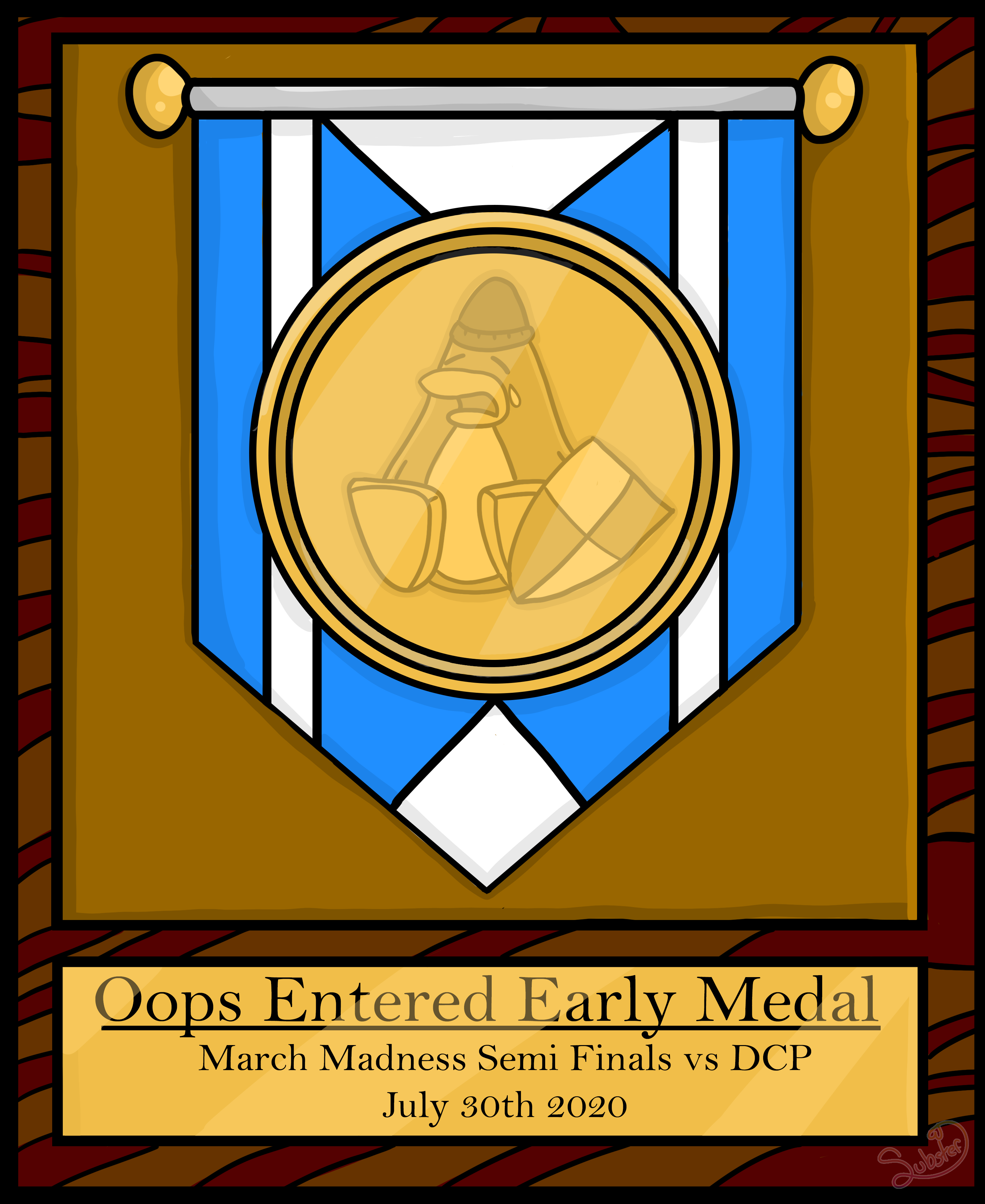Oops_entered_early_medal